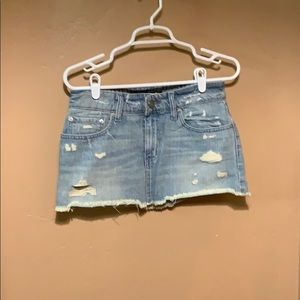NWOT BDG denim/jean mini skirt. Urban outfitters